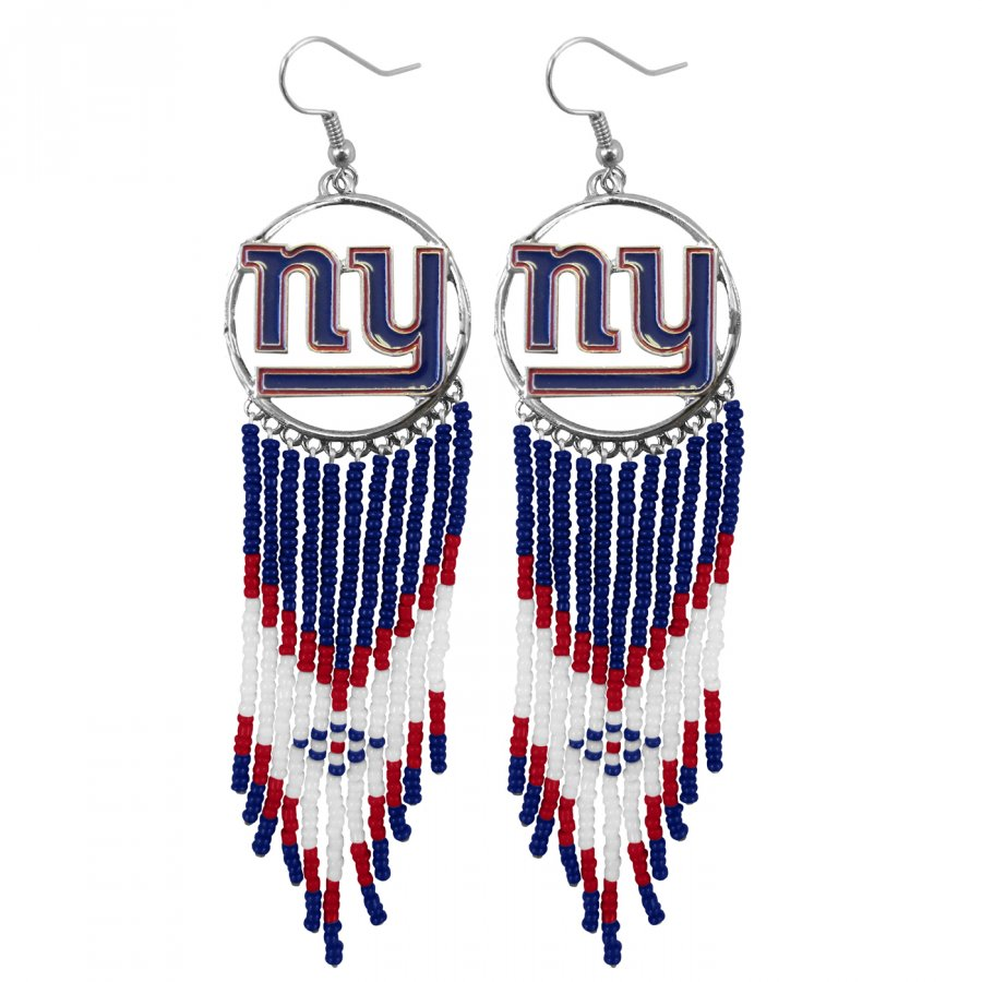 New York Giants Dreamcatcher Earrings