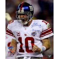 "New York Giants Eli Manning Super Bowl XLII Scream w/ ""SB XLII MVP"" Signed 16"" x 20"" Photo"