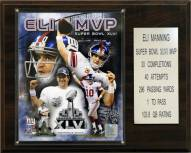 "New York Giants Eli Manning Super Bowl XLVI MVP 12 x 15"" Player Plaque"