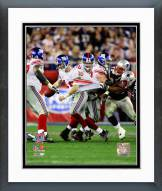 New York Giants Eli Manning SuperBowl XLII Action Framed Photo