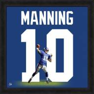 New York Giants Eli Manning Uniframe Framed Jersey Photo