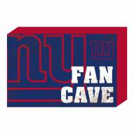 New York Giants Fan Cave Wooden Plock