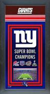 New York Giants Framed Championship Print