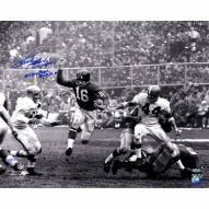 "New York Giants Frank Gifford Running With HOF, 8 Time Pro Bowl Signed 16"" x 20"" Photo"