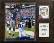 "New York Giants Hakeem Nicks 12 x 15"" Player Plaque"