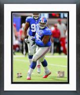 New York Giants Johnathan Hankins 2014 Action Framed Photo
