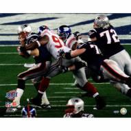 "New York Giants Justin Tuck Sacking Brady Signed 16"" x 20"" Photo"