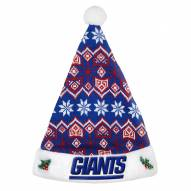 New York Giants Knit Santa Hat