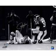 "New York Giants Lawrence Taylor Sack over Randall Cunningham Signed 16"" x 20"" Photo"