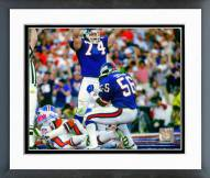 New York Giants Lawrence Taylor Super Bowl XXI Action 1987 Framed Photo