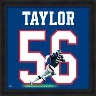 New York Giants Lawrence Taylor Uniframe Framed Jersey Photo