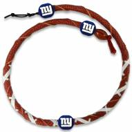 New York Giants Leather Football Necklace