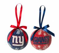 New York Giants LED Boxed Ornament Set