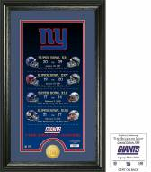 New York Giants Legacy Bronze Coin Photo Mint
