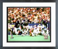 New York Giants Leonard Marshall 1985 Action Framed Photo
