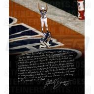 "New York Giants Mark Bavaro Kneeling Story Signed 16"" x 20"" Photo"