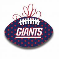 New York Giants Metal Football Door Decor