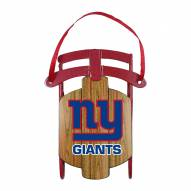 New York Giants Metal Sled Tree Ornament