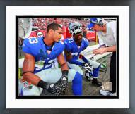 New York Giants Michael Johnson & Aaron Ross 2007 Action Framed Photo
