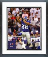 New York Giants Michael Strahan 2006 Action Framed Photo