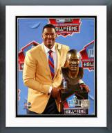 New York Giants Michael Strahan 2014 Hall of Fame Induction Ceremony Framed Photo