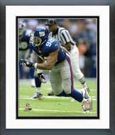 New York Giants Michael Strahan Action Framed Photo