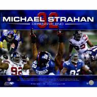 "New York Giants Michael Strahan Career Accomplishments Signed 16"" x 20"" Photo"