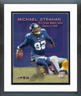 New York Giants Michael Strahan Sack record Framed Photo