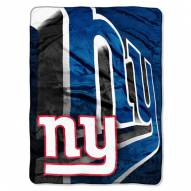 New York Giants Micro Raschel Bevel Blanket