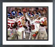 New York Giants New York Giants Defensive huddle Super Bowl XLII Framed Photo