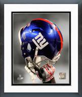 New York Giants New York Giants Helmet Spotlight Framed Photo