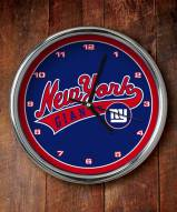 New York Giants NFL Chrome Wall Clock