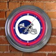 New York Giants NFL Neon Wall Clock