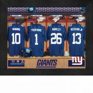 New York Giants NFL Personalized Locker Room 11 x 14 Framed Photograph