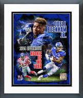 New York Giants Odell Beckham Jr. 2014 NFL Offensive Rookie Of The Year Framed Photo