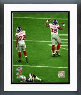 New York Giants Osi Umenyiora & Michael Strahan Super Bowl XLII Action Framed Photo
