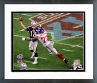 New York Giants Osi Umenyiora Super Bowl XLII Action Framed Photo