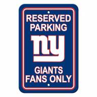 New York Giants Parking Sign - Set of 2