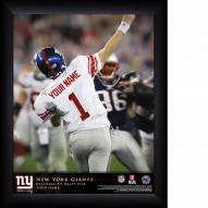 New York Giants Personalized NFL Action QB Framed Print