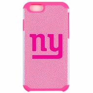 New York Giants Pink Pebble Grain iPhone 6/6s Plus Case