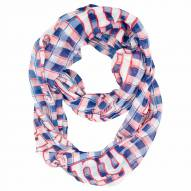 New York Giants Plaid Sheer Infinity Scarf