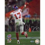 "New York Giants Plaxico Burress SB XLII Running Down Field After TD Signed 16"" x 20"" Photo"