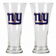 New York Giants Premiere Pilsner Glass Set