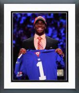 New York Giants Prince Amukamara 2011 NFL Draft # 19 Pick Framed Photo