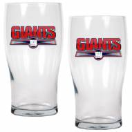 New York Giants 20 oz. Pub Glass - Set of 2