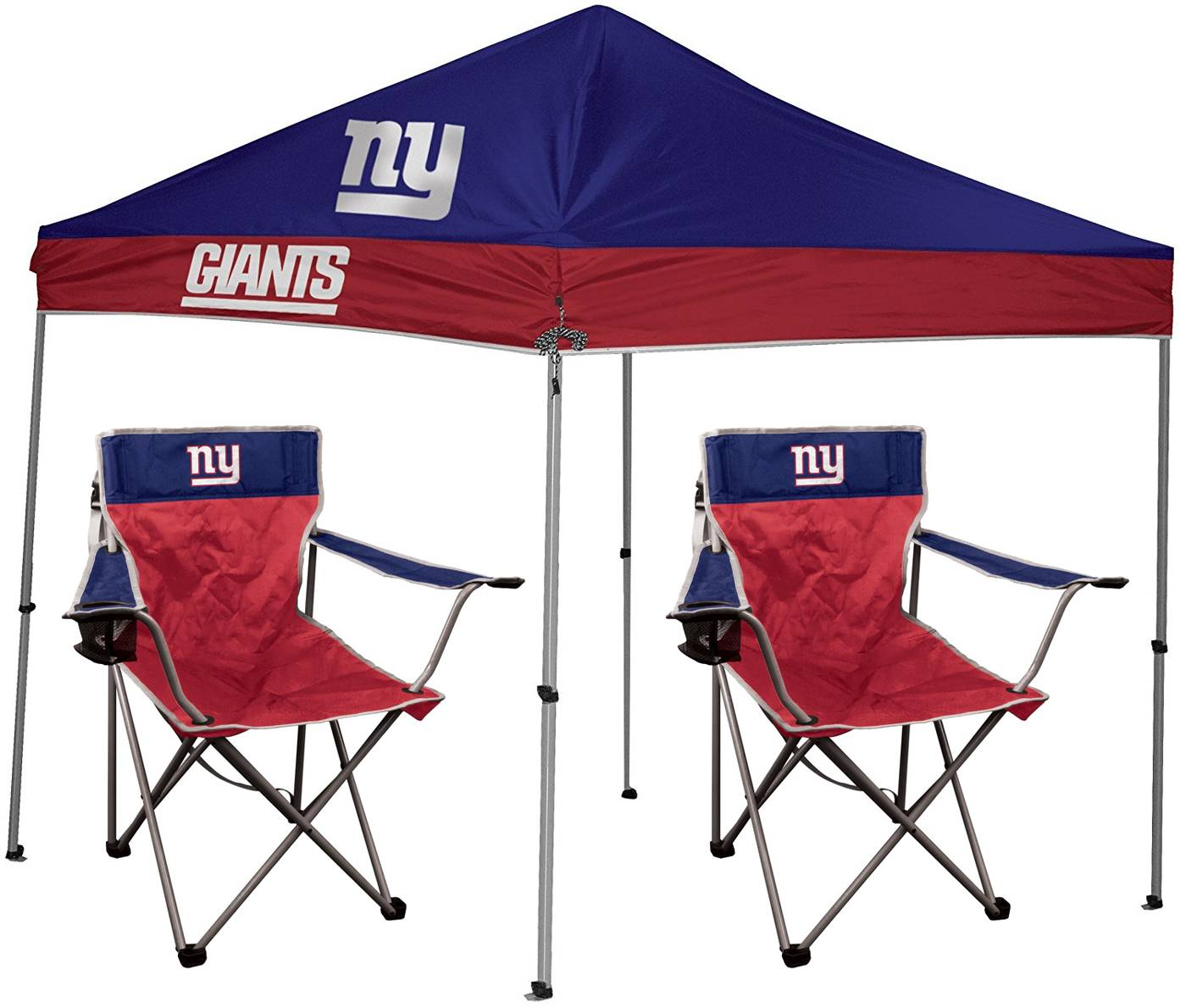 The New York Giants Rawlings Canopy Tent u0026 Chair Set is the perfect starter set to host your first tailgate! Included in this package is a 9u0027 x 9u0027 canopy ...  sc 1 st  Sports Unlimited & New York Giants Rawlings Canopy Tent u0026 Chair Set