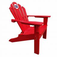 New York Giants Red Big Daddy Adirondack Chair