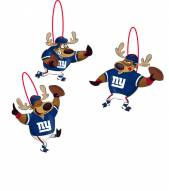 New York Giants Reindeer Ornaments