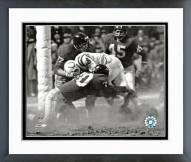 New York Giants Sam Huff 1958 Action Framed Photo