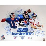 "New York Giants SB MVP Collage (Eli Manning, Phil Simms, OJ Anderson) Signed 16"" x 20"" Photo"